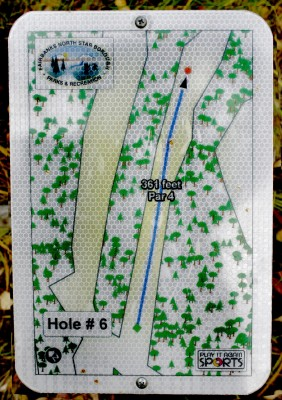 Birch Hill, Main course, Hole 6 Hole sign