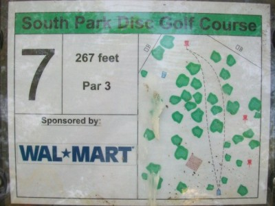 South Park, Main course, Hole 7 Hole sign