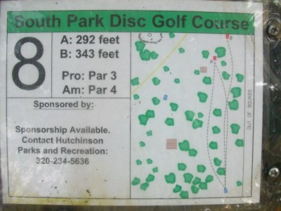 South Park, Main course, Hole 8 Hole sign