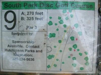 South Park, Main course, Hole 9 Hole sign