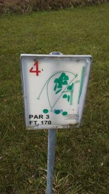 The Ponds of Linwood, Main course, Hole 4 Hole sign