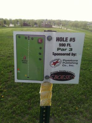 Westview, Main course, Hole 5 Hole sign