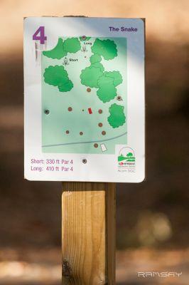 Acorn Park, Main course, Hole 4 Hole sign
