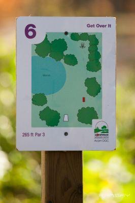 Acorn Park, Main course, Hole 6 Hole sign