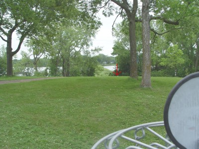 Robbin's Island, Main course, Hole 3 Reverse (back up the fairway)