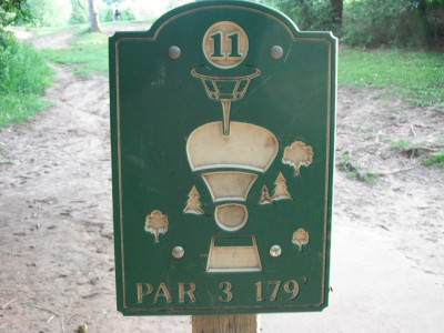 Plamann, Apple Creek, Hole 11 Hole sign