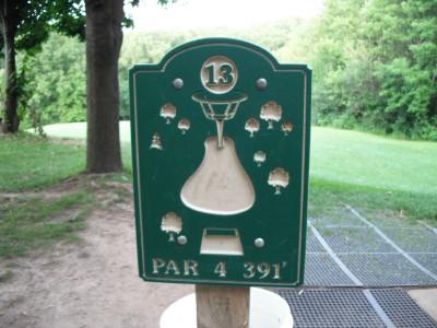 Plamann, Apple Creek, Hole 13 Hole sign