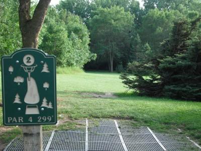Plamann, Apple Creek, Hole 2 Tee pad