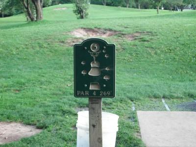 Plamann, Apple Creek, Hole 6 Hole sign
