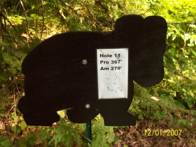 Black Bear Creek, Main course, Hole 11 Hole sign
