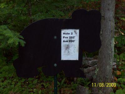 Black Bear Creek, Main course, Hole 2 Hole sign