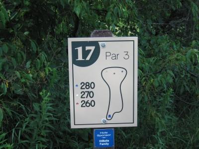 Vallarta-Ast, Main course, Hole 17 Hole sign