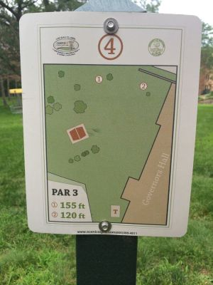 UWEC Campus, Main course, Hole 4 Hole sign