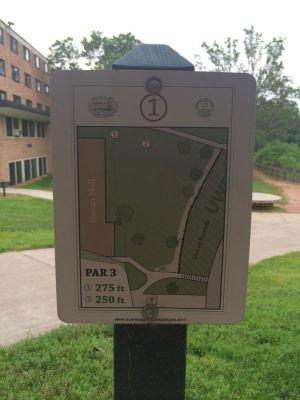 UWEC Campus, Main course, Hole 1 Hole sign