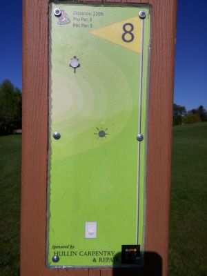 Adelaide Park, Main course, Hole 8 Hole sign