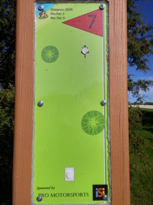 Adelaide Park, Main course, Hole 7 Hole sign