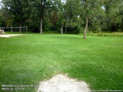 Woodlawn Union Park, Main course, Hole 6 Tee pad
