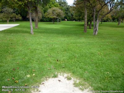 Woodlawn Union Park, Main course, Hole 9 Tee pad