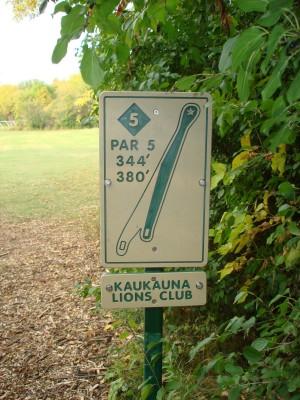 Grignon Park, Main course, Hole 5 Hole sign