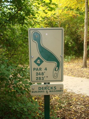 Grignon Park, Main course, Hole 4 Hole sign