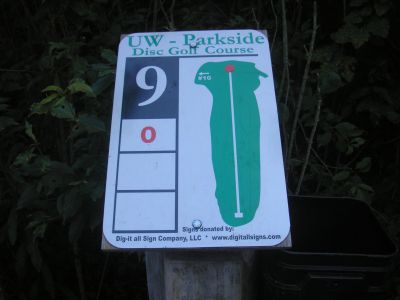 University of Wisconsin Parkside, East, Hole 9 Hole sign