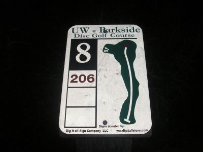 University of Wisconsin Parkside, East, Hole 8 Hole sign