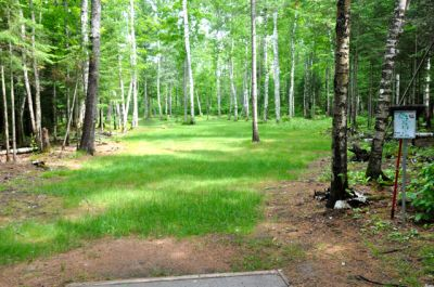 Sandy Point Resort Disc Golf Ranch, Main course, Hole 15 Long tee pad