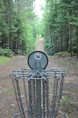 Sandy Point Resort Disc Golf Ranch, Main course, Hole 11 Reverse (back up the fairway)