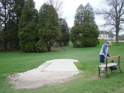 Silver Creek Park, Main course, Hole 3 Long tee pad