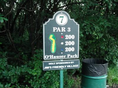 O'Hauser Park, Main course, Hole 7 Hole sign