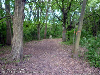 Brown Deer Park, Main course, Hole 11 Short approach