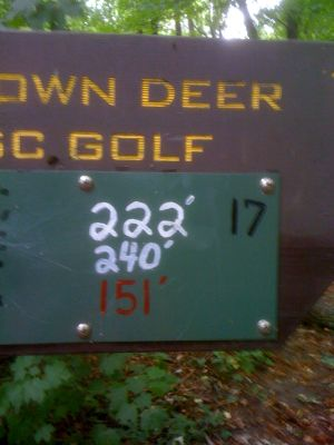 Brown Deer Park, Main course, Hole 17 Hole sign