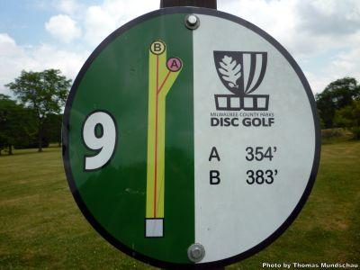 Dineen Park, Main course, Hole 9 Hole sign