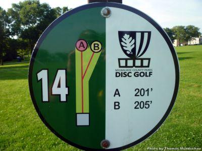 Dineen Park, Main course, Hole 14 Hole sign