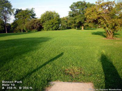 Dineen Park, Main course, Hole 10 Tee pad