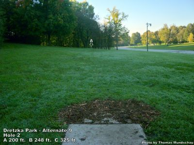 Dretzka Park, Main course, Hole 20 Tee pad