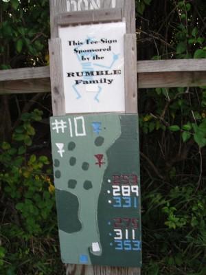 Dretzka Park, Main course, Hole 10 Hole sign