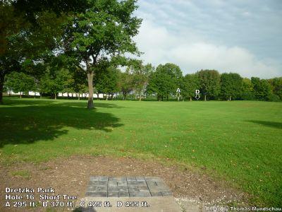 Dretzka Park, Main course, Hole 16 Short tee pad