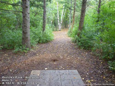 Dretzka Park, Main course, Hole 27 Tee pad