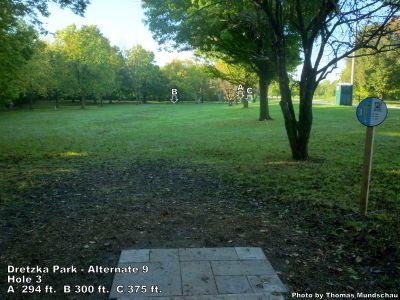 Dretzka Park, Main course, Hole 21 Tee pad