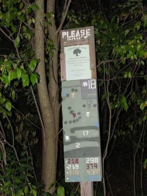 Dretzka Park, Main course, Hole 18 Hole sign
