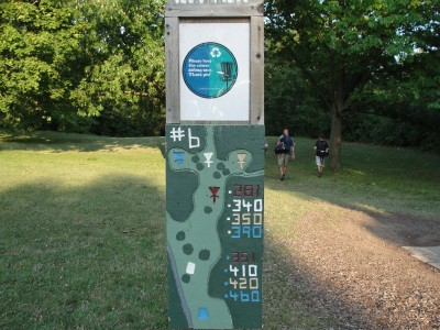 Dretzka Park, Main course, Hole 6 Hole sign