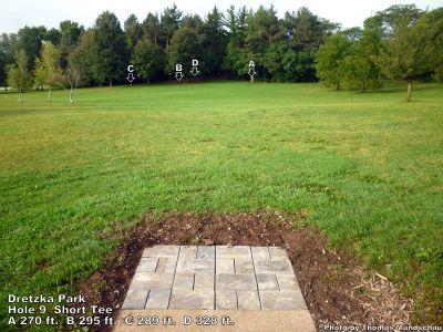 Dretzka Park, Main course, Hole 9 Short tee pad