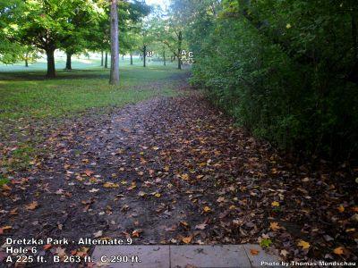 Dretzka Park, Main course, Hole 24 Tee pad