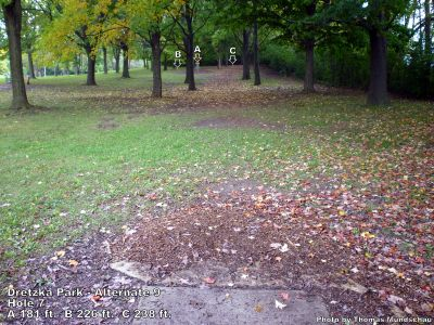 Dretzka Park, Main course, Hole 25 Tee pad