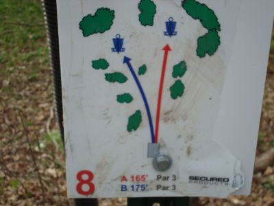 Valley View Park, Main course, Hole 8 Hole sign