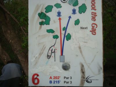 Valley View Park, Main course, Hole 6 Hole sign
