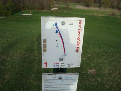 Valley View Park, Main course, Hole 1 Hole sign