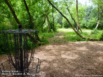 Valley View Park, Main course, Hole 4 Reverse (back up the fairway)