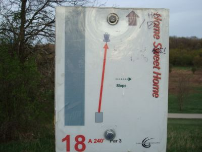 Valley View Park, Main course, Hole 18 Hole sign